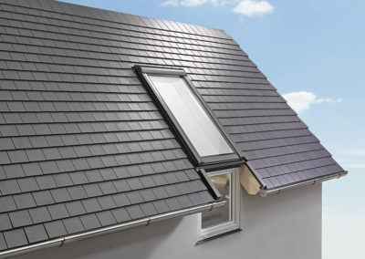 Roto Designo R15 <br>Fassadenanschlussfenster Fenster bis zum Fußboden sind auch im Dachgeschoss möglich!